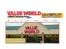 Value World 50% Off Your Entire Purchase Coupons