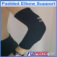 BREATHABLE PADDED ELBOW SUPPORT BRACE Made From FLOPRENE NEOPRENE
