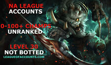 League of Legends LOL Smurf Account | Level 30 | 1-100+ Champs | NA |All Region
