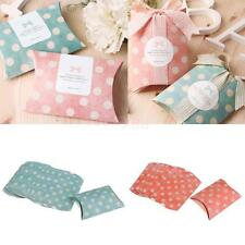 12Pcs Novelty Dots Pillow Candy Boxes Wedding Birthday Party Favour Gift Boxes