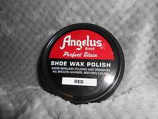(1) 3oz Can of Angelus Brand Perfect Stair Shoe Wax Polish, Water Repellent.