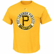 Pittsburgh Pirates Majestic Cooperstown Generate Wins T-Shirt - Yellow - MLB