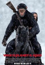 WAR FOR THE PLANET OF THE APES 2017 MOVIE POSTER PRINT #1 A6+A4+A3+SUPER A3