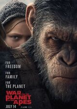 WAR FOR THE PLANET OF THE APES 2017 MOVIE POSTER PRINT #2 A6+A4+A3+SUPER A3