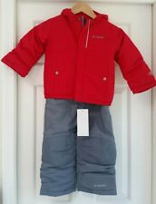 NWT COLUMBIA BOYS BUGA SET 2PC JACKET BIBS SNOW SET WATERPROOF INSULATED 3T 3