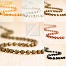 4M 13.12feet Ball Chain Unfinished Chains DIY Necklaces 2.4x2.4mm 5 Colors BW