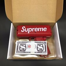 LUCKY Supreme SS17 Red Box Logo Cash Cannon Money Gun 200PCS Custom dollar bill