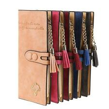 Women Lady Synthetic Leather Card Holder Long Trifold Wallet Clutch TXCL01 01