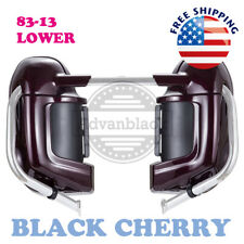 Black Cherry Lower Vented Fairing for Harley Touring Street Electra Glide 83-13