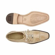 Belvedere Mens shoes Batta Taupe Genuine Ostrich Lace up Cushion Insole 14006
