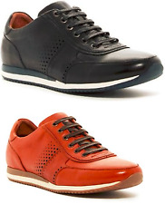 New In Box Bacco Bucci Meyer Perforated Men's Leather Sneaker Shoe