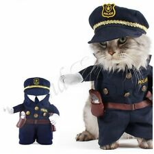 3Pcs Pet Policeman Costumes Cosplay Dog Cat Suits Outfits Police Hat Collar Tie