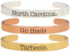 North Carolina Tar Heels Go Heels Tri Tone Bangle Bracelet Set Choose 1 or 3 UNC