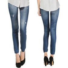 Women Skinny Leggings Stretch Jean Jeggings Slim Fit Pencil Pants Denim Trousers
