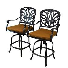 Buckingham Sunbrella Counter-height Bar Stools with Cushions (Pack of 2)
