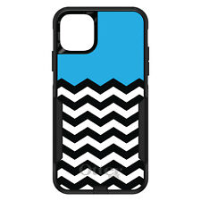 OtterBox Commuter for iPhone 5 SE 6 S 7 8 PLUS X Black White Cyan Blue Chevron