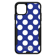 OtterBox Commuter for iPhone 5 SE 6 S 7 8 PLUS X White & Dark Blue Polka Dots