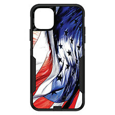 OtterBox Commuter for iPhone 5 SE 6 S 7 8 PLUS X Red White Blue USA Flag Waving