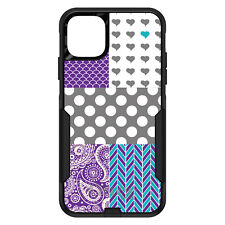 OtterBox Commuter for iPhone 5 SE 6 S 7 8 PLUS X Purple Teal Grey Patterns