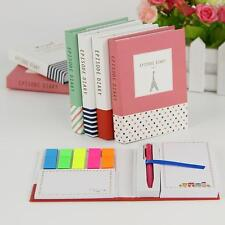 Notebook For Women Notepad Stationery Diary Memopad Office Supplies With Pen New