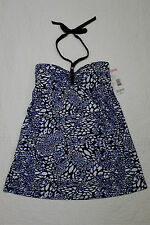 NEW WOMENS TROPICAL ESCAPE CHEETAH PRINT ONE PIECE HALTER SWIMDRESS SWIMSUIT NWT