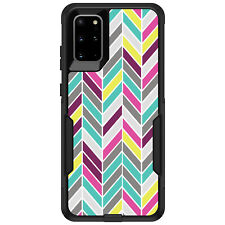 OtterBox Commuter for Galaxy S4 S5 S6 S7 S8 PLUS Pink Purple Teal Herringbone