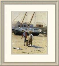 Global Gallery 'The Basket of Clams 1873' by Winslow Homer Framed Painting Print