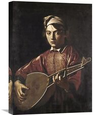 Global Gallery 'The Lute Player' by Caravaggio Painting Print on Wrapped Canvas