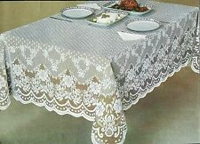 Lace Tablecloth White / Ecru Oval Oblong Square Wedding banquet party restaurant