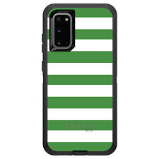 OtterBox Defender for Galaxy S5 S6 S7 S8 S9 PLUS Green & White Bold Stripes