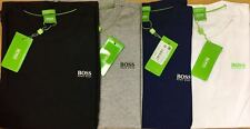 BOSS Hugo Crew Neck Short Sleeve Mens T-shirt Green Label Cotton Fast Delivery