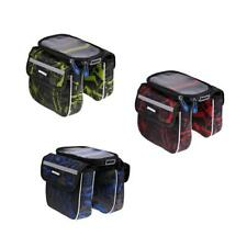 Bicycle Frame Pannier Bike Front Tube Bag Waterproof Cycling Saddle Bags