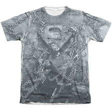 Superman Breaking Free Mens Sublimation Poly Cotton Shirt