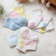 3 Pairs Combed cotton Socks Ankle Socks For  0-12 Month Newborn Baby & Toddler