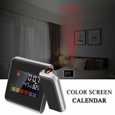 Digital Weather LCD Projection Snooze Alarm Clock & Colorful LED Backlight UK