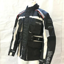 Viper Wayfarer Black Grey Waterproof Touring Textile Jacket