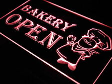 """16""""x12"""" i175-r OPEN Bakery Shop Bread Display Neon Sign"""