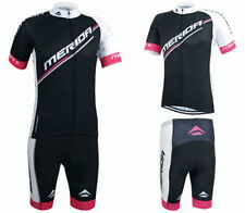 Merida Road Bike Clothing Set Cycling Jersey and Shorts Kit Black-Red S-5XL