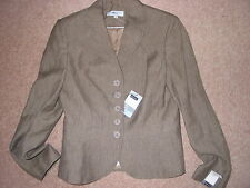 Womens Next Linen Mix Mid Brown  Jacket Size 10 BNWT