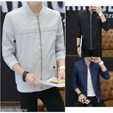 New Men's Slim collar bomber jackets fashion jacket Tops Casual coat outerwear