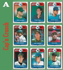 Mark McGwire 1989 Cap'n Crunch or OTHER Cereal and/or Food Sponsored cards