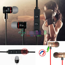 Black -KM56 Magnetic Bluetooth Handsfree Headset Earphone For Cell Phone Sony/LG