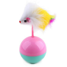 Funny Cat Toy Mouse Tumbler Ball Toy Furry Kitten Playing Toy Scratch Toy-NEW