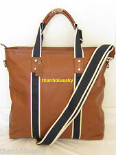 $448 NEW COACH MEN HERITAGE WEB LEATHER UTILITY TRAVEL TOTE BAG F70560 AUTHENTIC