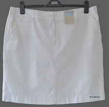 BNWT M&S White Plus Size Pure Cotton Summer Chino Skirt, Size 20, 22