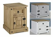 Seconique Corona Petite Pine Bedside - Distressed Waxed, Grey, White