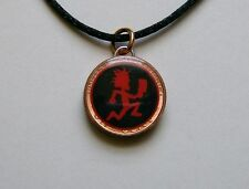 Lucky Penny Pendant 2-Sided Red Hatchet Man Charm Necklace Chain or Satin ICP