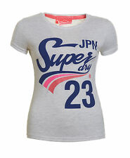 New Womens Superdry Factory Second Slope Entry T-Shirt Ice Marl