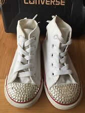 Converse Baby Girls Crystal Bling High Top Trainers Size:7 Infant UK