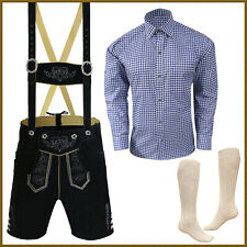 4 Pcs Lederhosen Set German Bavarian Trachten Oktoberfest Short Package - Gp33
